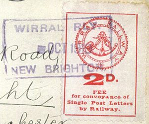 On 1 June 1920, the Post Office Inland Rate was increased to 2d, but once again there was a delay in the corresponding increase for railway letter stamps.